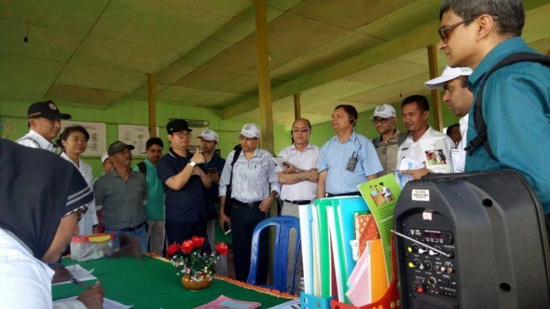 Tujuh orang perwakilan Negara Nepal menjadikan Desa Hiang Bana sebagai destinasi kegiatan studi tour mereka dalam pelayanan kesehatan swadaya di Posyandi Sehati, Rabu (17/01/2018)