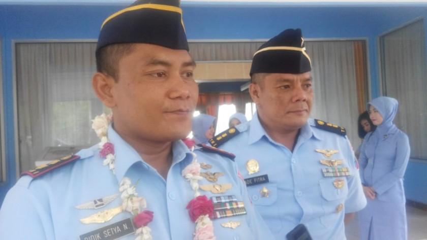Danlanud Iskandar Letkol Pnb Didik saat memberikan keterangan kepada awak media.