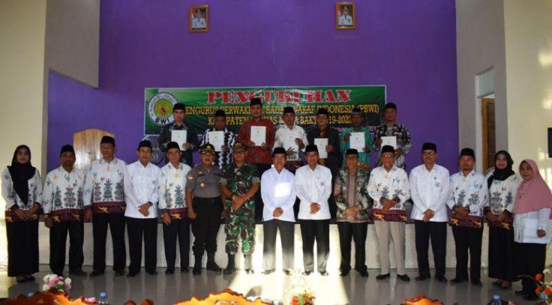 Wabup Kapuas Nafiah Ibnor saat poto bersama pengurus PBWI Kapuas Sabtu (4/5).