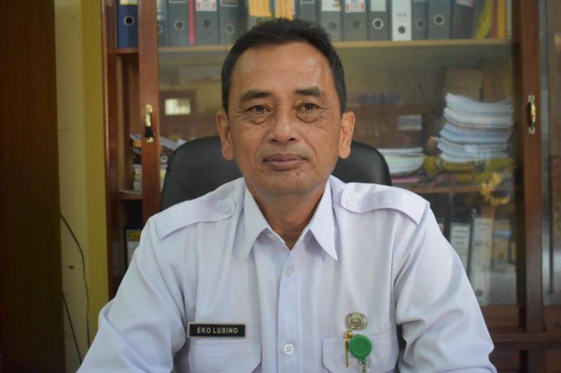 Kabid Perdagangan Disperindagkop UKM Kobar, Tridoso Eko Lusino saat memberkkan keterangan kepada awak media Rabu (15/5).