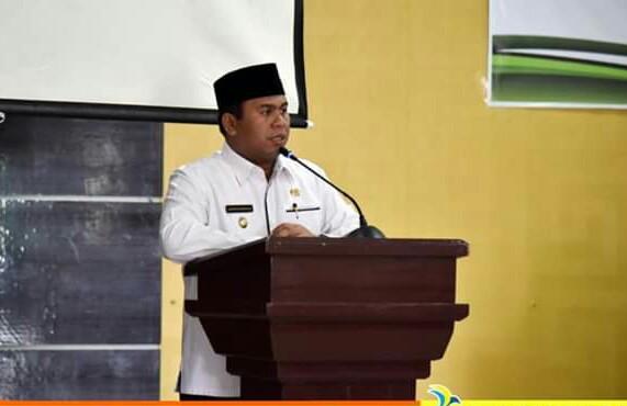Wabup Kobar Ahmadi Riansyah saat menyampaikan sambutannya.