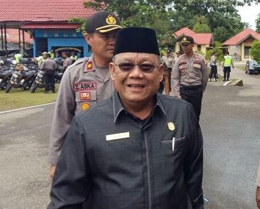 Ketua DPRD Kobar Gad F Silam saat berkunjung ke Mapolres Mura belum lama ini.