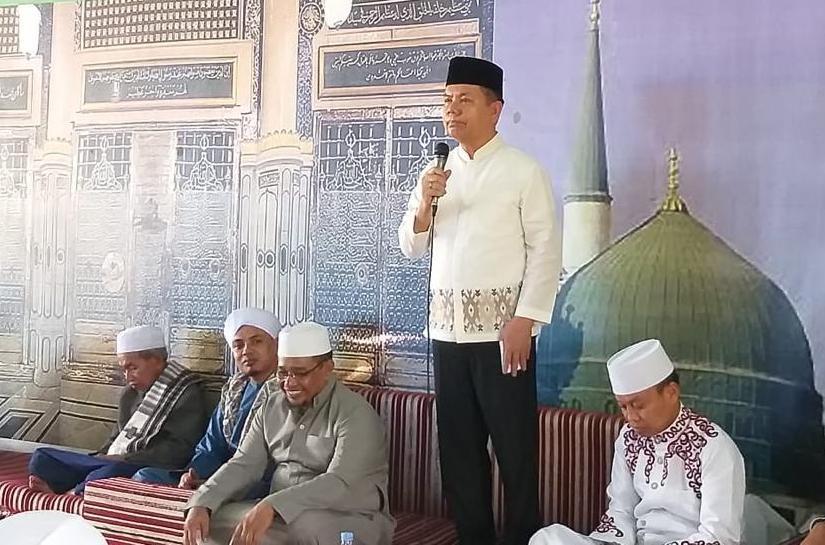 Bupati Kapuas Ben Brahim saat menyampaikan sambutan Minggu (9/10/2019).