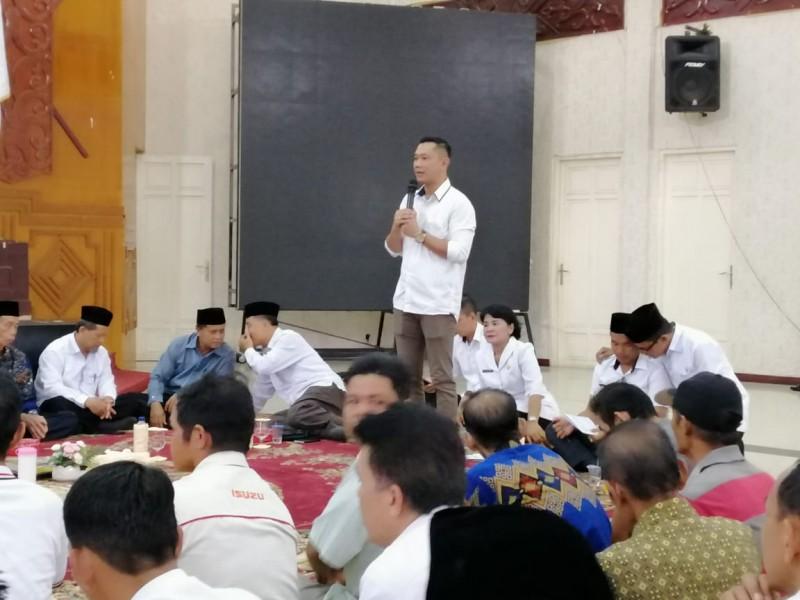 Camat Murung K Zen Wahyu Priyatna saat menyampaikan sambutannya Selasa (12/6/2019).
