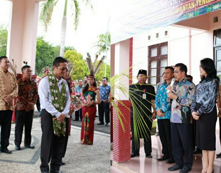 Bupati Mura Perdie M Ypseph saat menerima kunjungan Wabup Bolaang Mangondow Yanny Ronny Tuuk Jumat (28/6/2019).