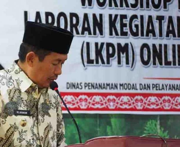 Wabup Mura Rejikinnor saat menyampaikan sambutannya ketika membuka kegiatan workshop Kamis (20/6/2019).