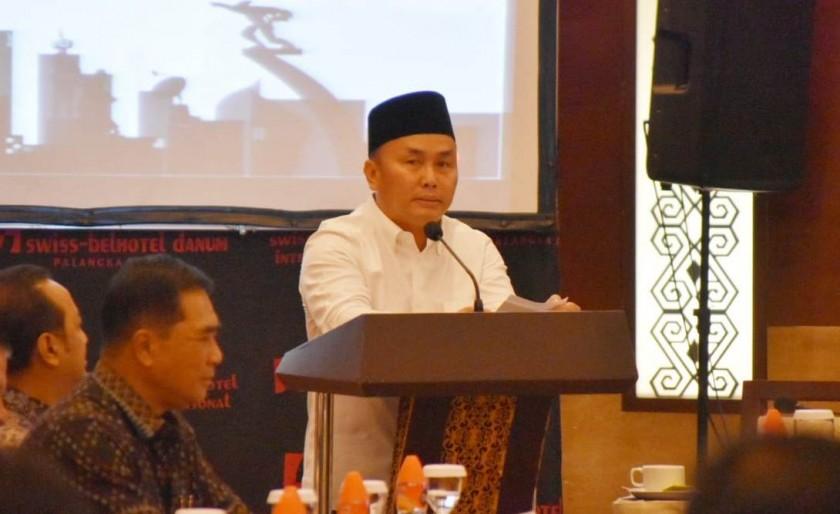 Gubernur Kalteng Sugianto Sabran saat menyampaikan sambutanya pada kegiatan FDG Rabu (31/7/2019).