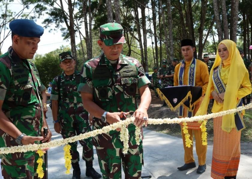 Kasau Marsekal TNI Yuyu Sutisna saat meresmikan pembangunan Selasa (23/7/2019).