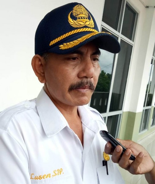 Kabag Humas Setda Katingan Lusen saat memberikan keterangan kepada awak media, Selasa (2/7/2019).