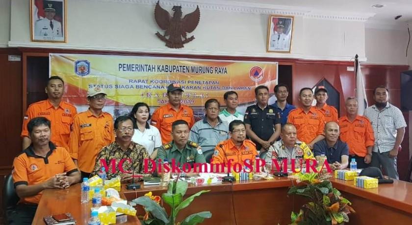IST-Diskominfo Mura - Tim Satgas saat poto bersama seusai mengikuti rapat koordinasi, Jumat (5/7/2019).