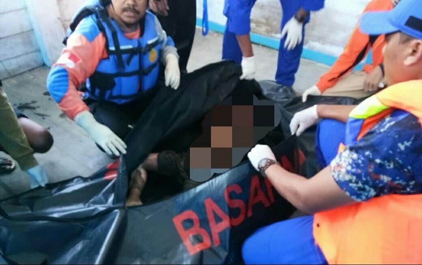 Jasad korban Rafa saat ditemukan tim gabungan, Sabtu (6/7/2019) pagi.