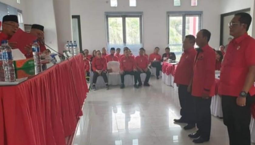 Tiga Pengurus DPD PDIP Kalteng saat terpilih, Rabu (17/7/2019).