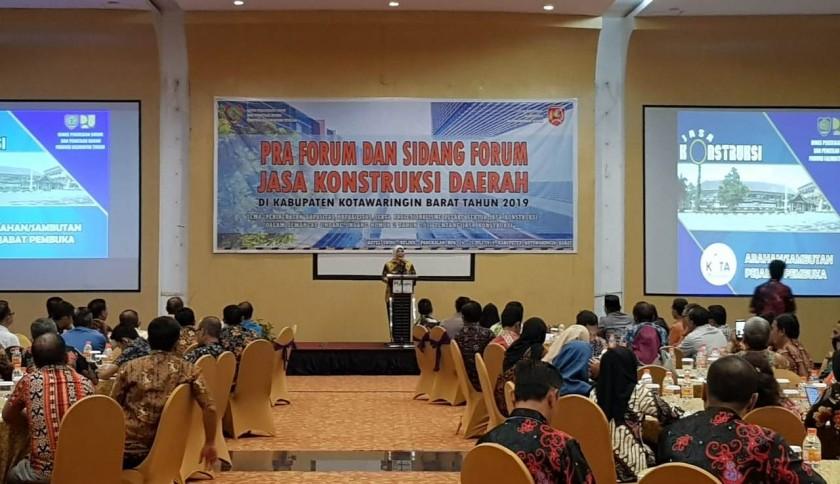 Bupati Kobar Hj Nurhidayah saat menyampaikan sambutannya, dikegiatan forum diskusi Kamis (25/7/2019).