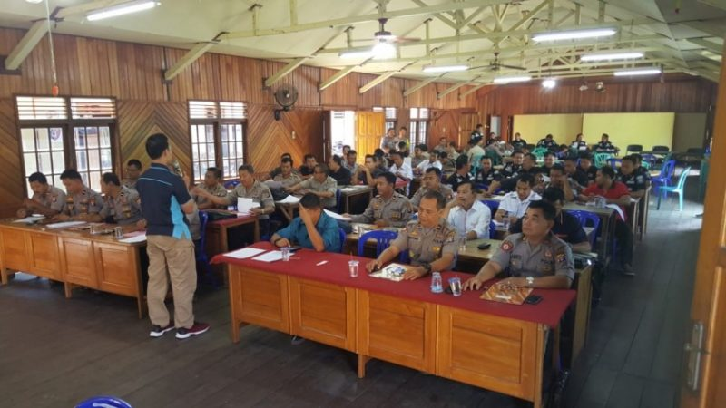 Puluhan anggota pemilik senpi saat mengikuti tes psikologi Kamis (25/7/2019).