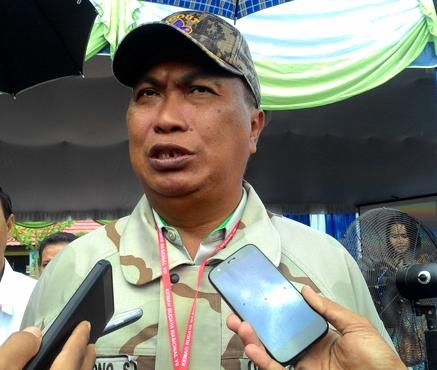 Kepala BPBD Kalteng Mofit Saptono saat memberikan keterangan kepada awak media.