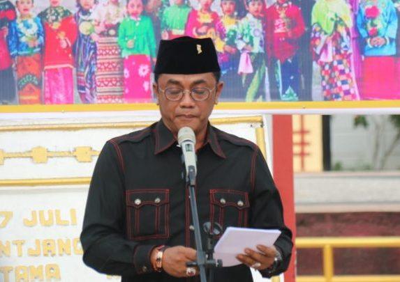 Ketua DPRD Kota Palangka Raya Sigit K Yunianto saat memberikan sambutannya.