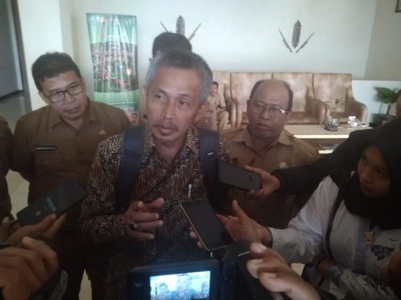 Plt. Asisten Deputi Perlindungan Anak dan Pornografi Sumbono saat memberikan keterangan kepada awak media, Selasa (6/8/2019).