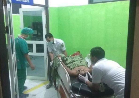 Korban saat dievakuasi ke rumah sakit untuk mendapatkan perawatan secara intensif Rabu (14/8/2019).