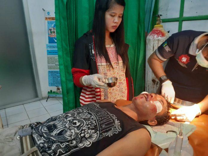 korban saat mendapat perawatan di rumah sakit Kamis (8/8/2019) malam.