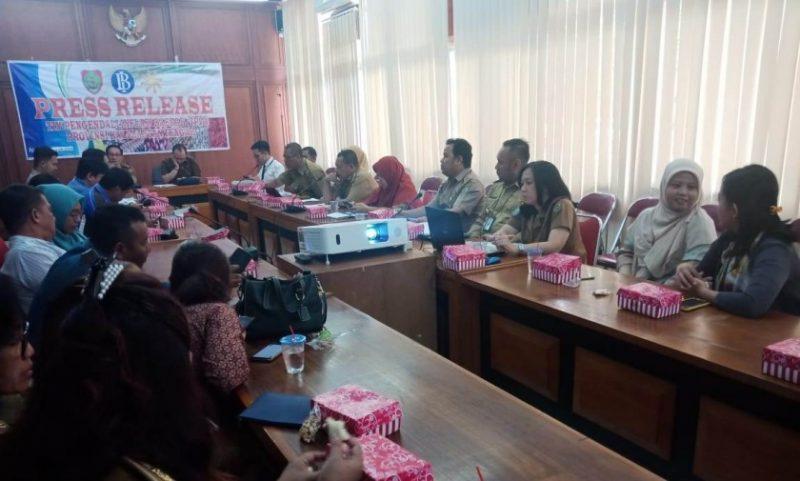 TPID Kalteng saat menggelar press release Selasa (3/9/2019).
