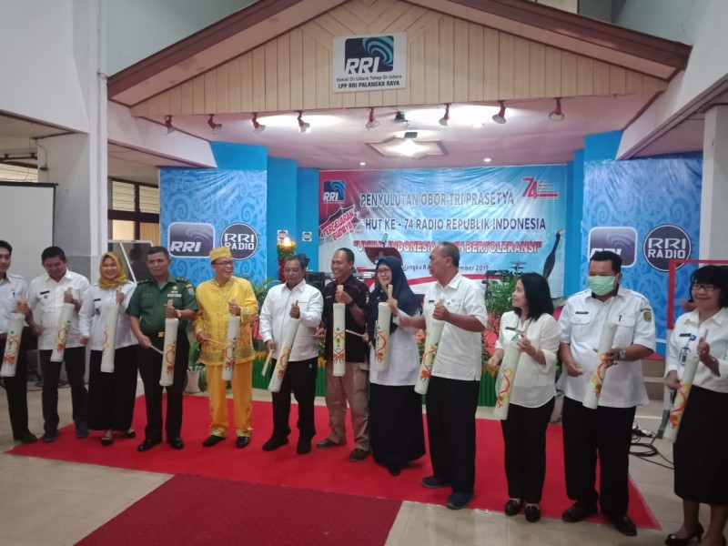 Wagub Kalteng Habib Said Ismail saat melaunching program Kentongan RRI Rabu (11/9/2019).