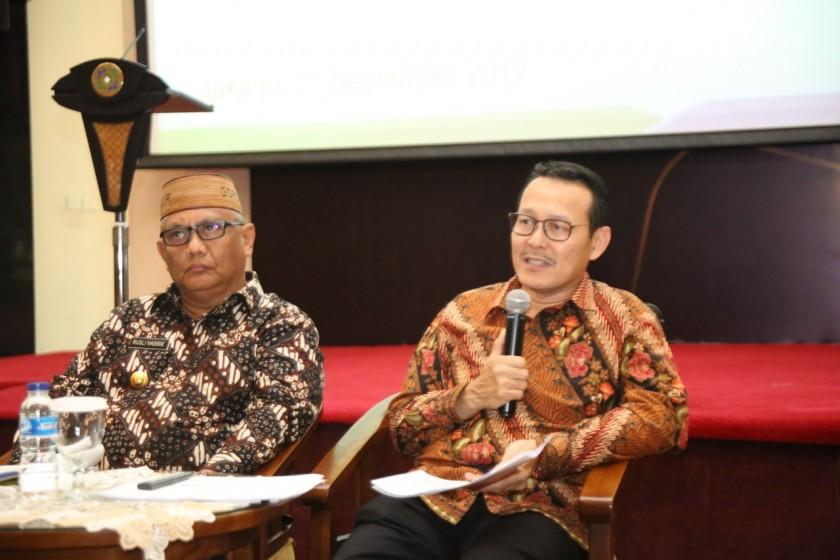 Direktur Utama BPJS Kesehatan Fahcmi Idris saat membeberkan penyesuaian iuran BPJS Kesehatan Rabu (11/9/2019).