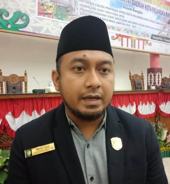 Anggota DPRD Kota Palangka Raya yang sebentar lagi akan menduduki jabatan Wakil Ketua I DPRD Kota Wahid Yusuf saat memberikan keterangan kepada Kalteng Ekspres.com Rabu (11/9).