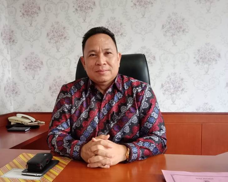 Ketua DPRD Mura Doni SP saat memberikan keterangan kepada Kalteng Ekspres.com Senin (16/9/2019).