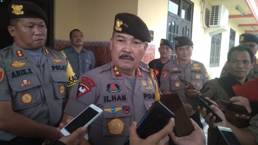 Kapolda Kalteng Irjen Pol Drs Ilham Salahudin saat memberikan keterangan kepada awak media, Jumat (20/9/2019).