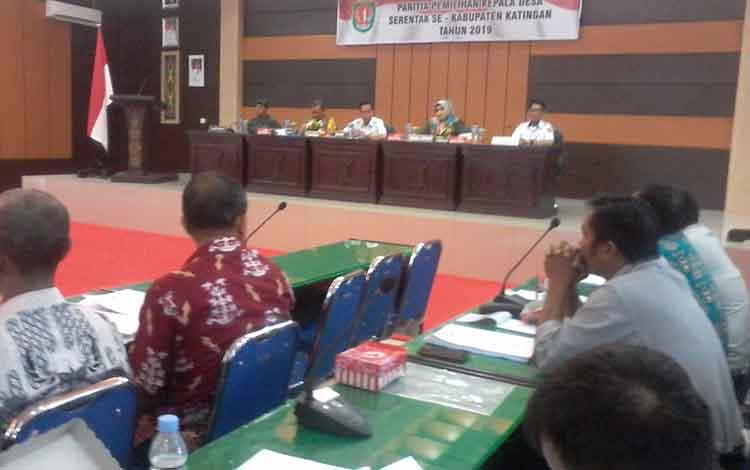 Bupati Katingan Sakariyas saat membuka kegiatan bimtek Rabu (4/9/2019).