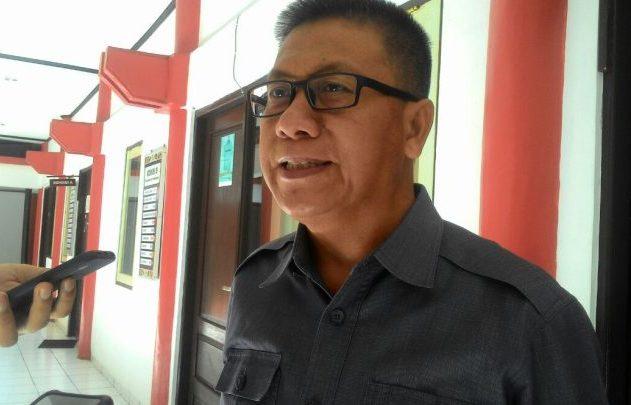 Wakil Ketua Sementara D{RD Kota Palangka Raya Subandi saat memberikan keterangan kepada awak media.