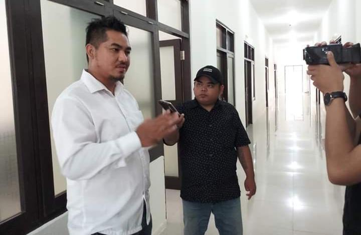 Perwakilan Smile Train Indonesia Kalteng,Chris Philip Alessandro saat memberikan keterangan kepada awak media, Rabu (8/10/2019).