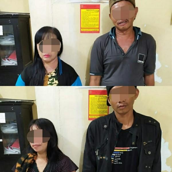 Dua pasangan saat diamankan di Kantor Satpol PP Kobar Selasa (15/10/2019).