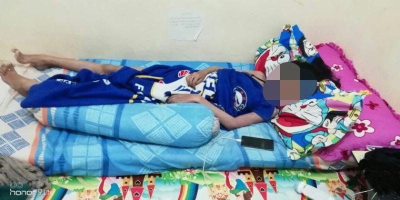 Korban saat tergeletak tewas di kamarnya, dengan kondisi mulut berbusa, Selasa (15/10/2019).