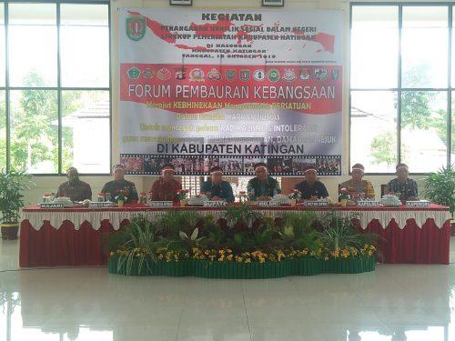 Sakariyas bersama sejumlah kepala FKPD saat memimpin rakor penanganan konflik sosial Jumat (18/10/2019).
