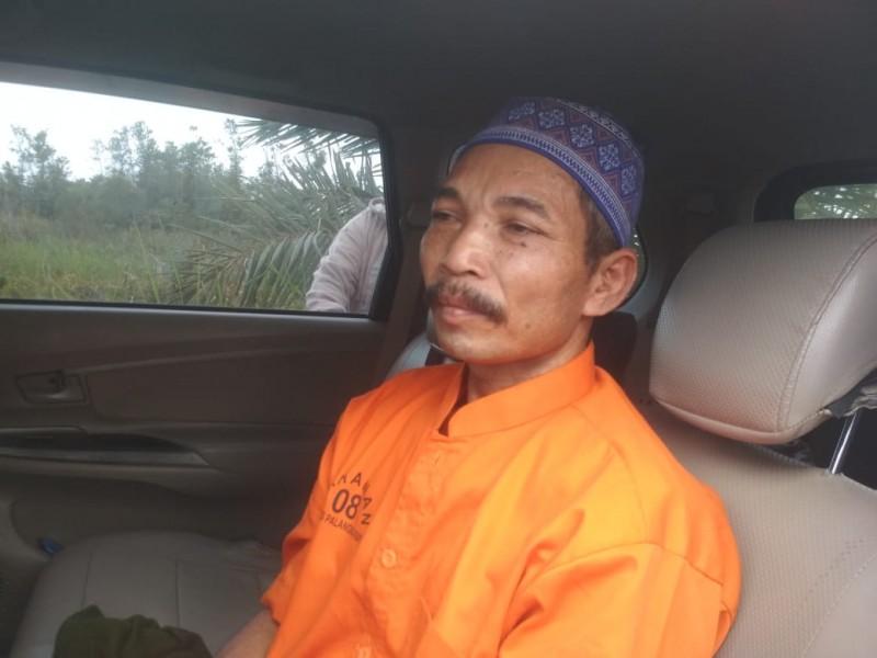 Tersangka Suwito seusai menjalani rekontruksi Rabu (23/10/2019).