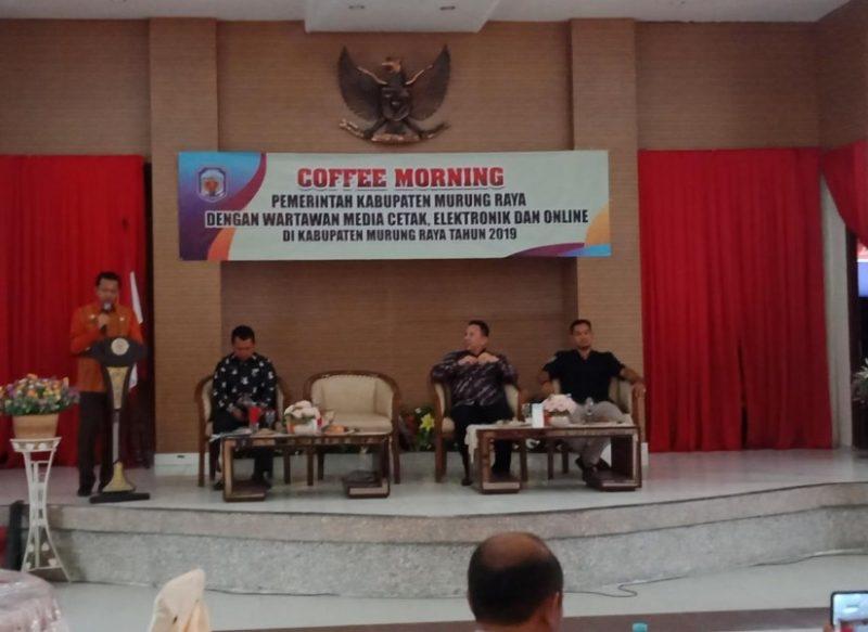 Ketua DPRD Mura Doni saat menghadiri kegiatan coffe morning Kamis (24/10/2019).