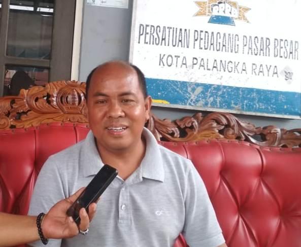 Ketua Pasar Besar Hamidan saat menceritakan kejadian penangkapan kepada awak media, Sabtu (26/10/2019).