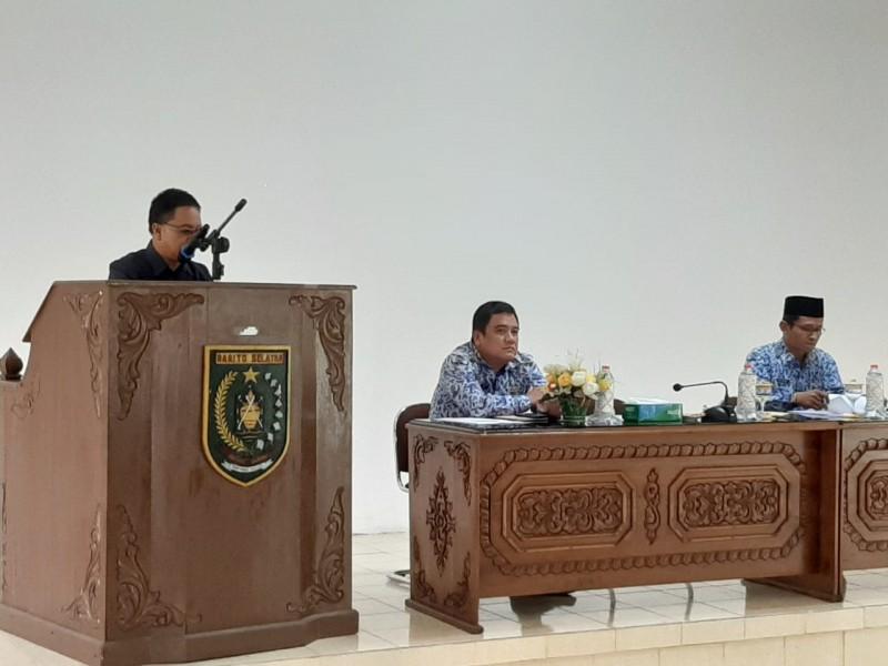 Asisten III Dekma Sos saat menyampaikan sambutannya Senin (28/10/2019).