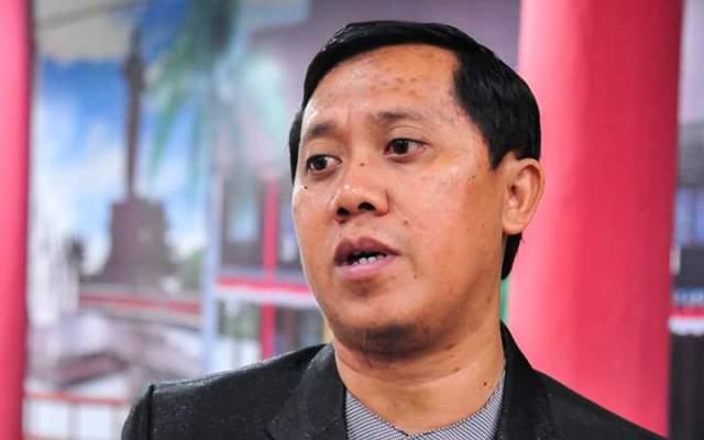 Anggota DPRD Kota Palangka Raya Sigit Widodo saat memberikan keterangan kepada awak media.