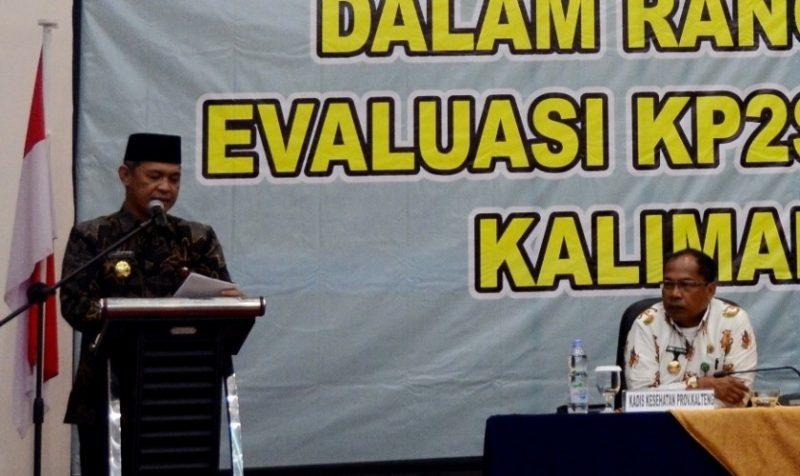 Sekda Kalteng Fahrizal Fitri saat membacakan sambutan Gubernur Kalteng Sugianto Sabran Kamis (31/10/2019).