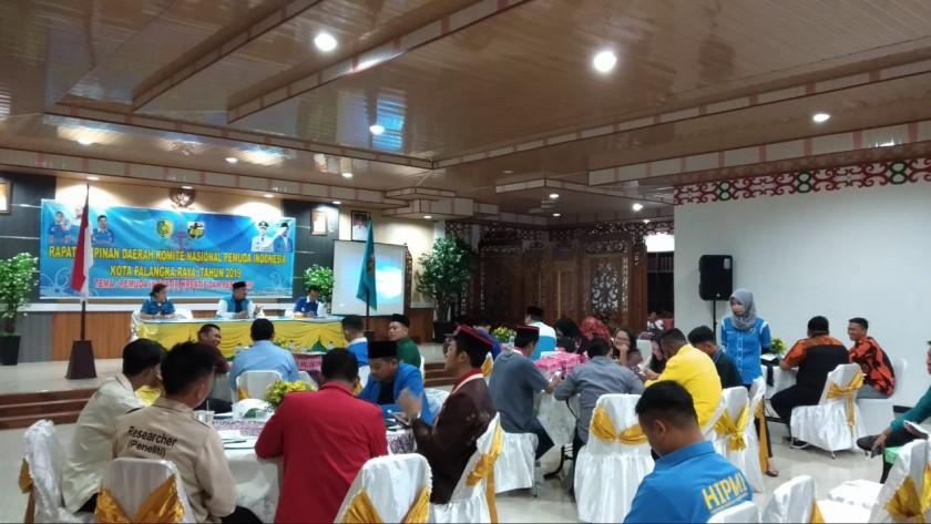 Suasana Rapimda DPD KNPI Palangka Raya Tahun 2019 Minggu (24/11/2019).