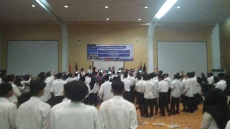 Ratusan pemuda saat mengikuti diklat pelayaran Sabtu (2/11/2019).
