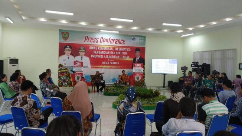 Diskominfo Kalteng saat memaparkan terkait capaian selama kurun waktu 2017-2019, Palangka Raya saat menggelar press conference, Kamis (7/10/2019).