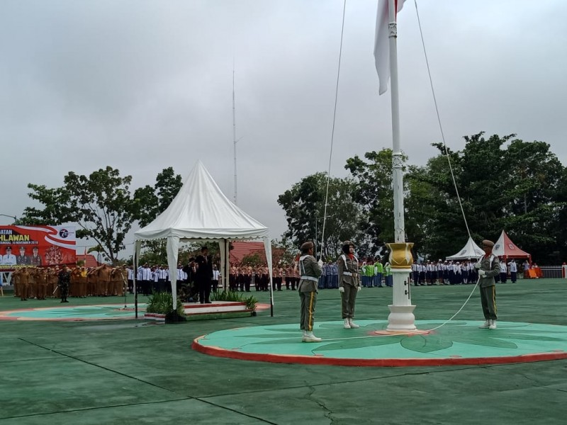Wabup Mura Rejikinoor saat menjadi Irup peringati Hari Pahlawan Minggu (10/11/2019).