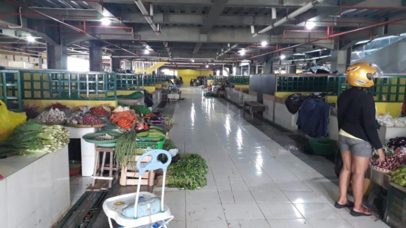 Kondisi Pasar Indrasari saat sepi pengunjung Rabu (13/11/2019).