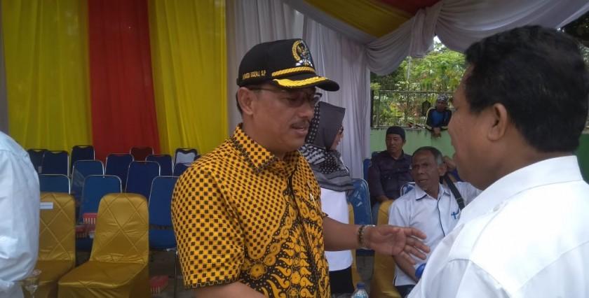 Ketua DPRD Kobar Rusdi Gozali saat menghadiri acara bersama sejumlah kepada SKPD Kobar.