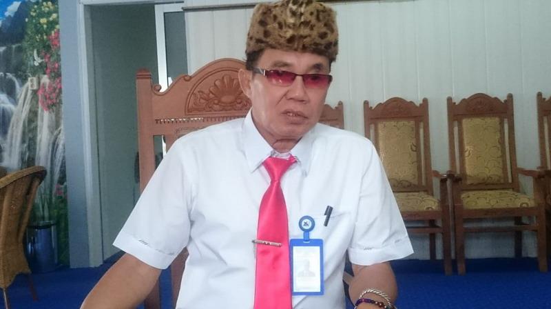 Rektor UPR Andrie Elia saat memberikan keterangan kepada awak media.