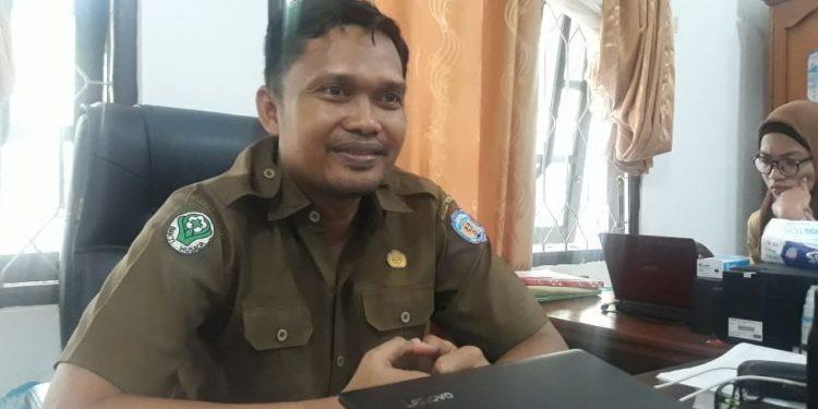 Kepala Bidang Pencegahan dan Pengendalian Penyakit pada Dinkes Mura, Iskandar Kurniawan saat memberikan keterangan kepada awak media, Senin (2/12/2019).