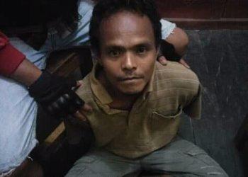 Pelaku saat ditangkap anggota Polres Katingan MInggu (8/12/2019).